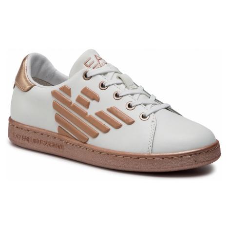 Sneakersy EA7 EMPORIO ARMANI - XSX006 XCC53 C245 White/Rose Gold