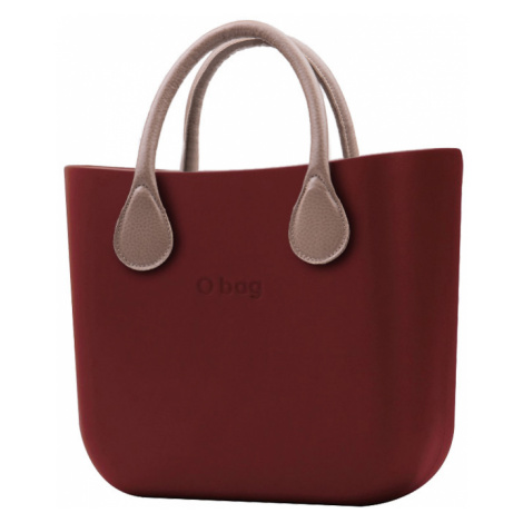 O bag torebka MINI Bordeaux z krótką skajką Tortora