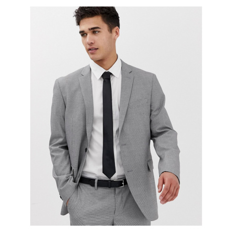 Esprit slim fit suit jacket in mini houndstooth