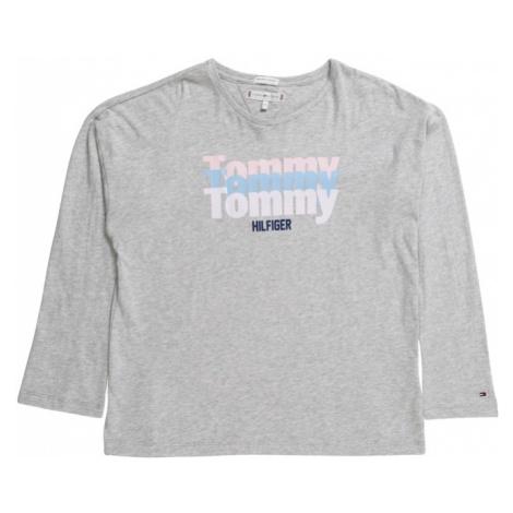 TOMMY HILFIGER Koszulka 'ESSENTIAL TRIPPLE TOMMY L/S TEE' nakrapiany szary