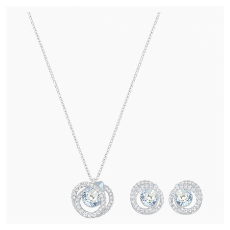Generation Set, Blue, Rhodium Plating Swarovski
