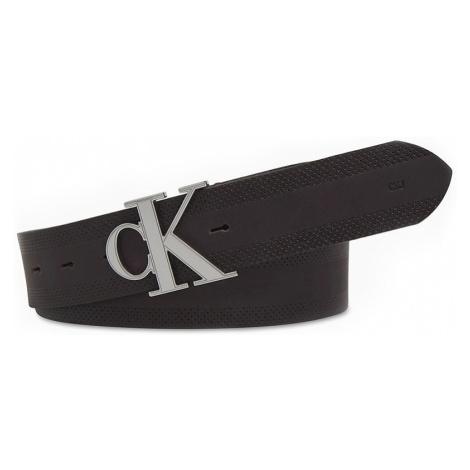 Calvin Klein brązowy męski pasek skórzany CKJ GymClass Monogram z logiem