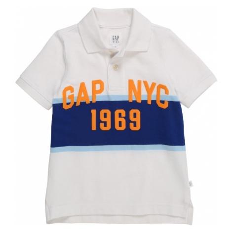 GAP Koszulka niebieski / biały