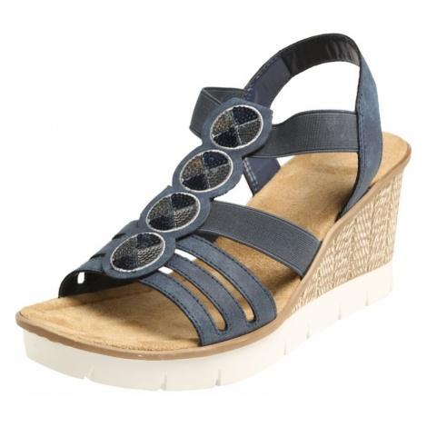 RIEKER Sandały z rzemykami atramentowy