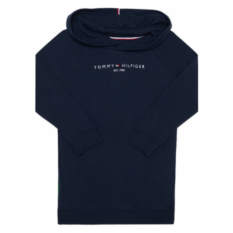 Tommy Hilfiger Sukienka codzienna Essential Hooded KG0KG05293 M Granatowy Regular Fit