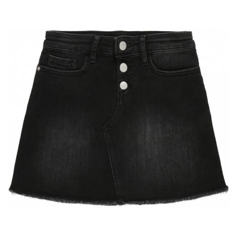 Calvin Klein Jeans Spódnica 'A LINE SKIRT WORN BL' czarny denim