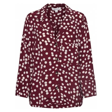 Whistles Bluzka 'ILLUSTRATED FLOWER SHIRT' burgund