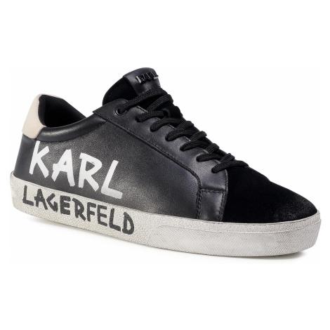 Sneakersy KARL LAGERFELD - KL51316 Black Lthr & Suede