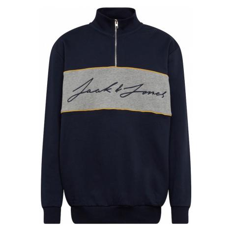 Jack & Jones Plus Bluzka sportowa 'HIKARI' granatowy / szary / żółty