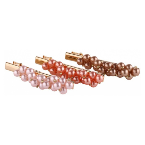 PIECES Biżuteria do włosów 'SISSE' złoty / pomarańczowy / różowy pudrowy