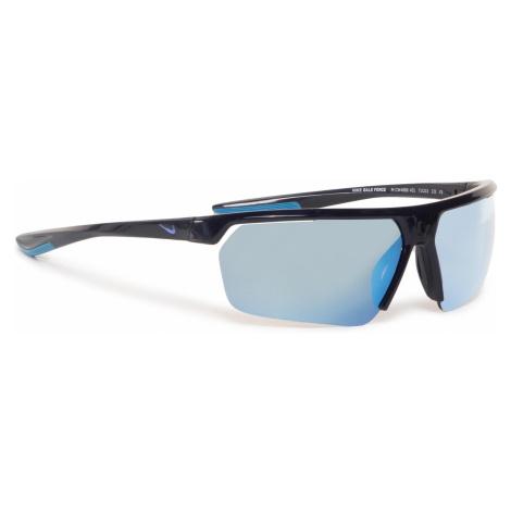Okulary przeciwsłoneczne NIKE - Gale Force CW4668 451 Obsidian/Grey W/Frozen Blue Mirror