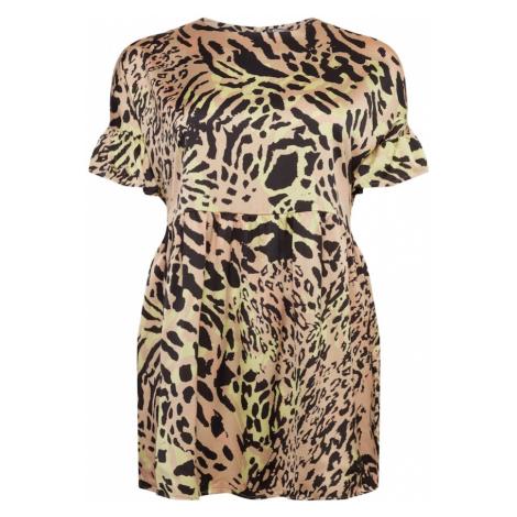 Missguided Plus Sukienka 'Leopard' mieszane kolory
