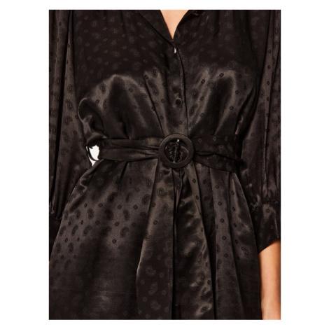 The Kooples Sukienka koszulowa FROB20014K Czarny Regular Fit