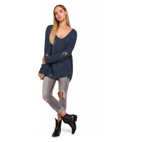 Made Of Emotion Woman's Pullover M473 Jeans