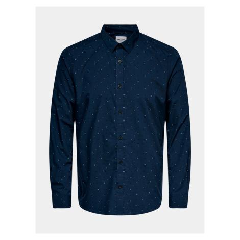 ONLY & SONS niebieski męska koszule