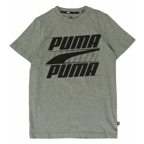 PUMA Koszulka 'Rebel bold' nakrapiany szary / czarny