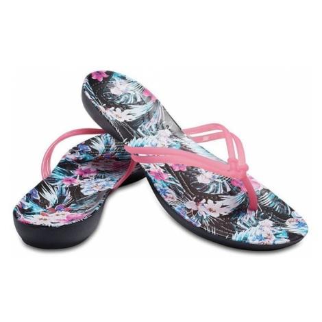 Crocs Damskie Crocs Isabella Graphic Flip Paradise Pink / Tropical Floral 204196-6NT