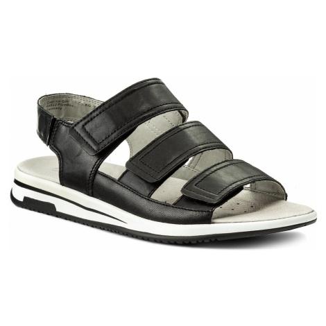 Sandały CAPRICE - 9-28609-20 Black Nappa 022