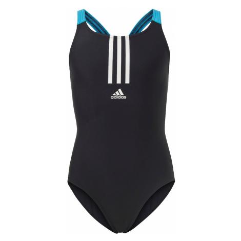ADIDAS PERFORMANCE Moda plażowa sportowa czarny / biały / niebieski neon
