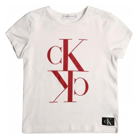 Calvin Klein Jeans Koszulka 'MONOGRAM' biały