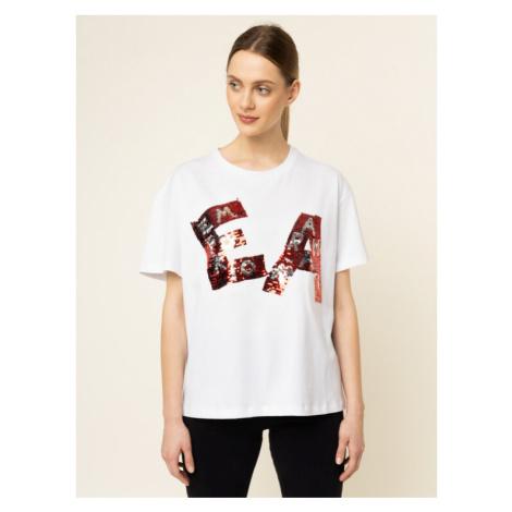 Emporio Armani T-Shirt 3H2T7K 2J53Z 0100 Biały Oversize