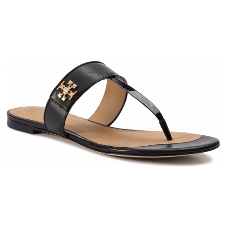 Japonki TORY BURCH - Kira Thong Sandal 55263 Perfect Black/Perfect Black 004