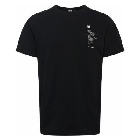 G-Star RAW Koszulka 'Korpaz' czarny / biały