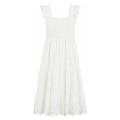MANGO Sukienka 'Viqui' nakrapiany biały