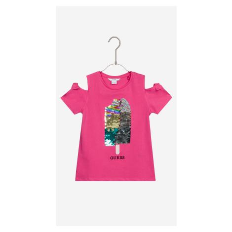 Guess Koszulka dziecięce Różowy