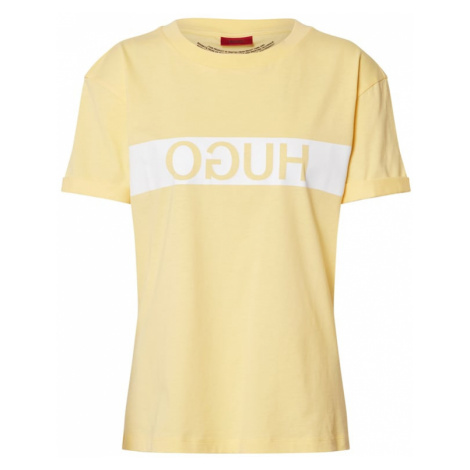 HUGO Koszulka 'Datina' jasnożółty / biały Hugo Boss