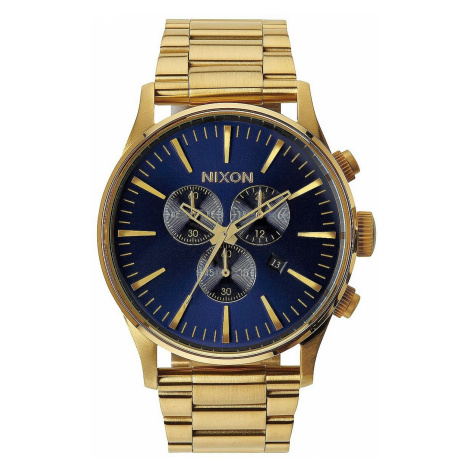 zegarek Nixon Sentry Chrono - Gold/Blue/Sunray