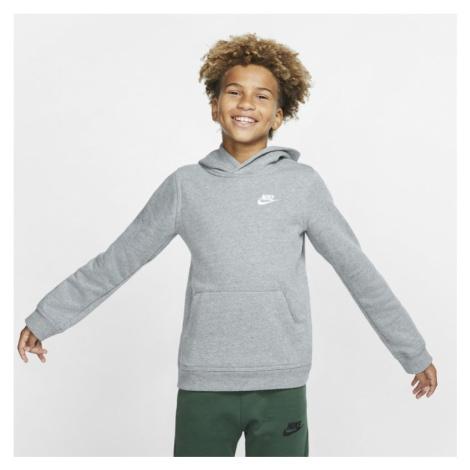 Bluza z kapturem dla dużych dzieci Nike Sportswear Club - Szary