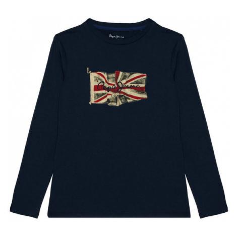 Pepe Jeans Bluzka Flag Logo PB502603 Granatowy Regular Fit