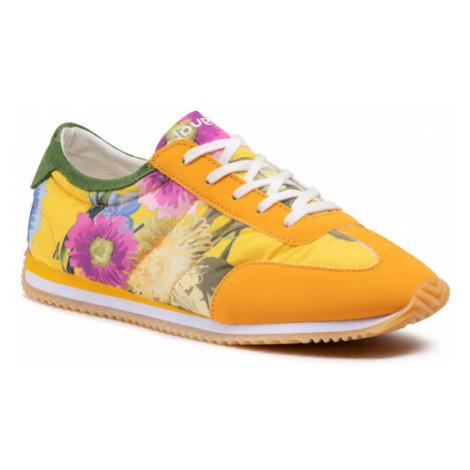 Desigual Sneakersy Royal Flowers 21SSKA10 Żółty