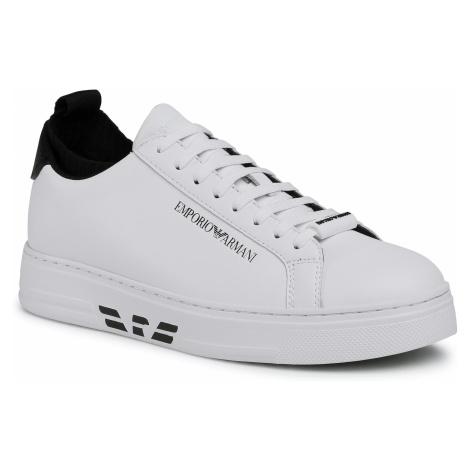 Sneakersy EMPORIO ARMANI - X4X308 XM485 R207 Wht/Wht/Blk/Blk/Blk