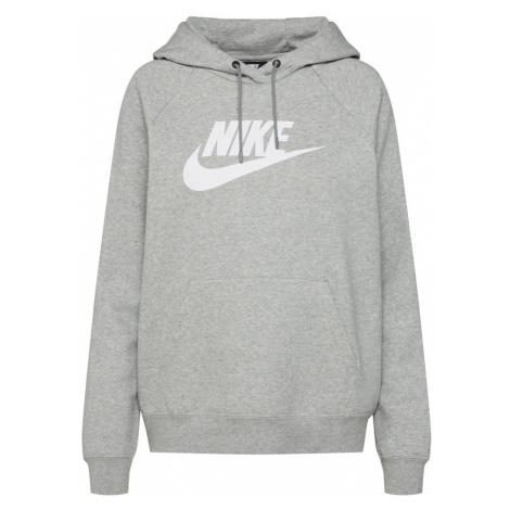 Nike Sportswear Bluzka sportowa 'Essntl' biały / nakrapiany szary
