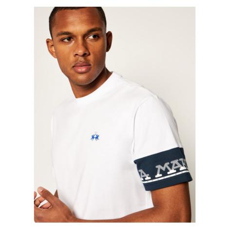La Martina T-Shirt QMR301 JS206 Biały Comfort Fit