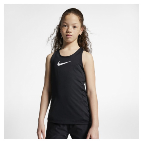 Koszulka bez rękawów dla dużych dzieci (dziewcząt) Nike Pro - Czerń