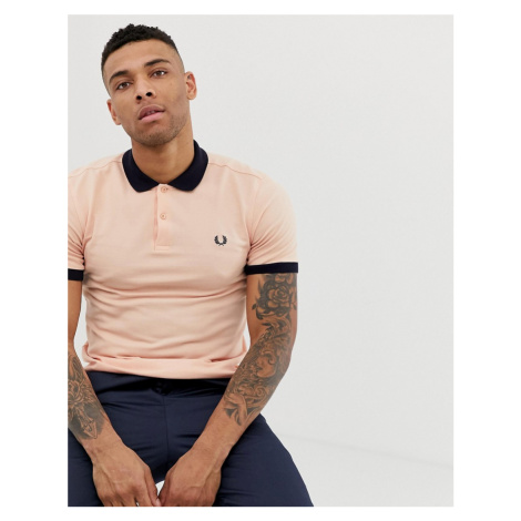Fred Perry contrast polo in orange