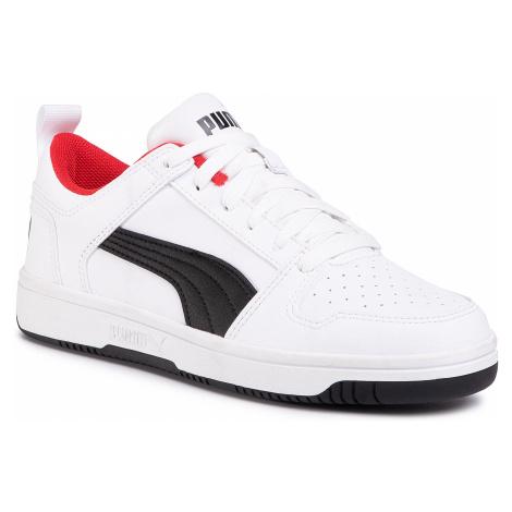 Sneakersy PUMA - Rebound Layup Lo Sl Jr 370490 01 Puma White/Puma Black/Red
