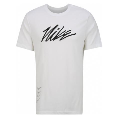 NIKE Koszulka funkcyjna 'Nike Dri-FIT' czarny / biały