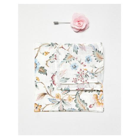 Gianni Feraud Liberty Print Eva Belle Cotton Pocket Square and Lapel Pin Set Féraud