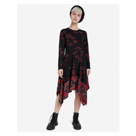 Desigual Chicago Sukienka Czarny Czerwony