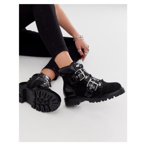 ASOS DESIGN Avenue hiker boots in black