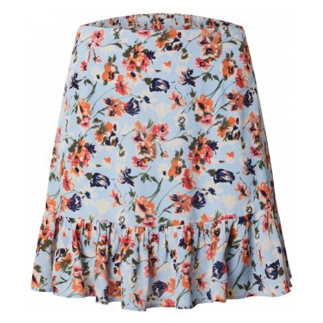 PIECES Spódnica mieszane kolory / jasnoniebieski