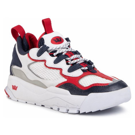 Sneakersy SUPRA - Muska2000 06582-180-M White/Navy/Red/White