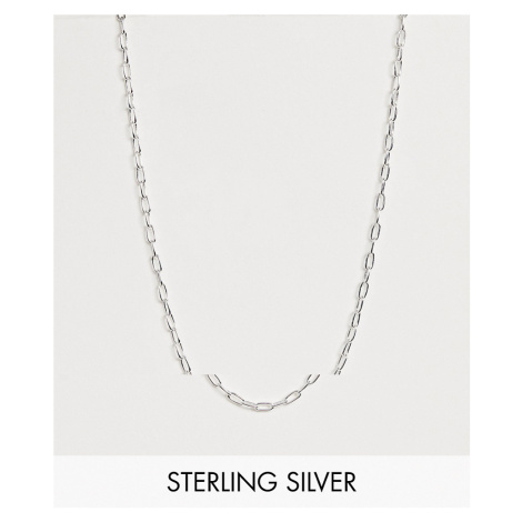ASOS DESIGN sterling silver open link chain