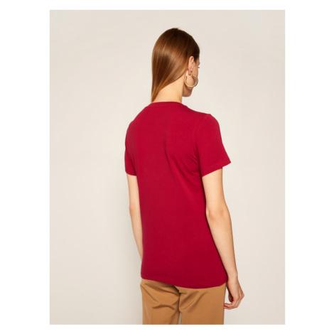 Trussardi Jeans T-Shirt 56T00280 Bordowy Regular Fit