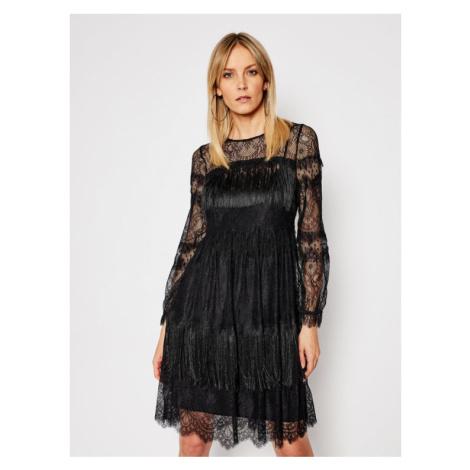 TwinSet Sukienka koktajlowa 202TP2374 Czarny Reguler Fit