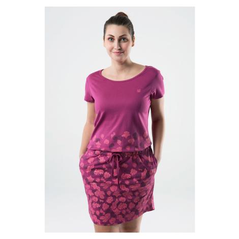 Ciemnoróżowa sukienka LOAP Asmen